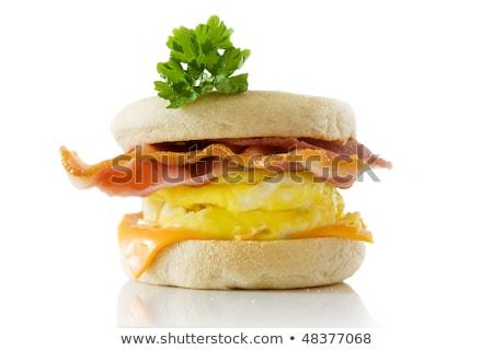 Tápláló főtt angol reggeli sült tojások Stock fotó © photohome