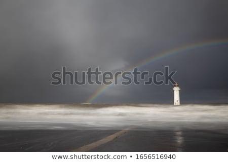 Deniz feneri gökkuşağı resim küçük renkli ağır Stok fotoğraf © 1Tomm