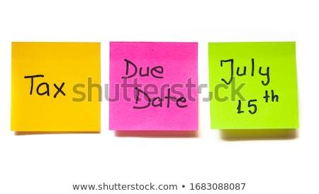 Taxes Due Background Stock photo © 3mc