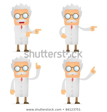 Stok fotoğraf: Scientist In Various Poses