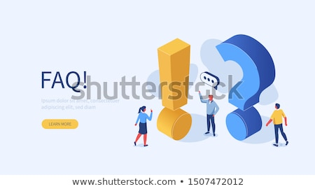 man and woman with question mark vector stock photo © beaubelle