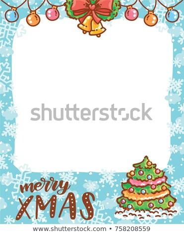 vuota · photo · frame · immediato · pergamena · albero · di · natale - foto d'archivio © marimorena