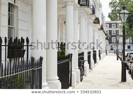 Typical Victorian facades in London Stock photo © franky242