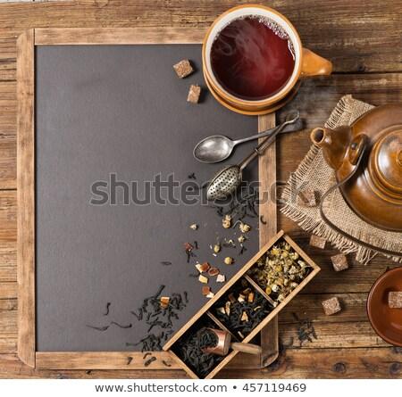 чай · старые · ретро · таблице - Сток-фото © feelphotoart
