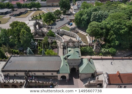 gate of our lady of sorrows at jasna gora stock photo © efischen