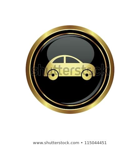 Car Gold Vector Icon Button Stock photo © rizwanali3d