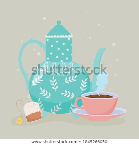 Tazza da tè tavola esterna cafe cucina bere Foto d'archivio © Novic