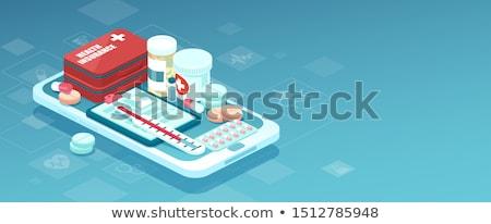 Stok fotoğraf: çevrimiçi · reçeteli · ilaçlar · reçete · sipariş · şişeler · tıp