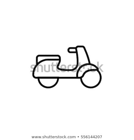 blanche · silhouette · moto · noir · vecteur · voiture - photo stock © tkacchuk