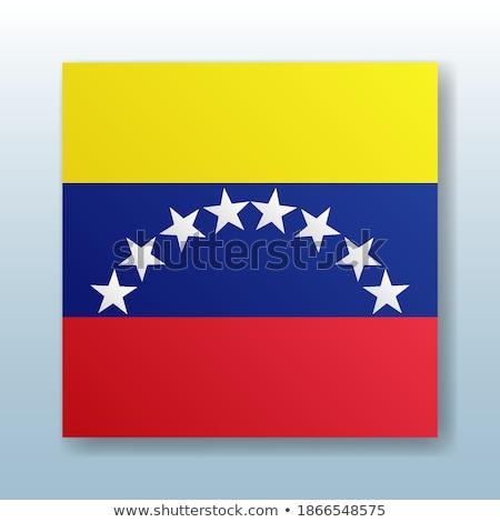 Gomb szimbólum Venezuela zászló térkép fehér Stock fotó © mayboro1964