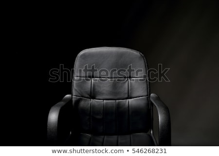 Siyah deri ofis koltuğu veri Stok fotoğraf © cherezoff
