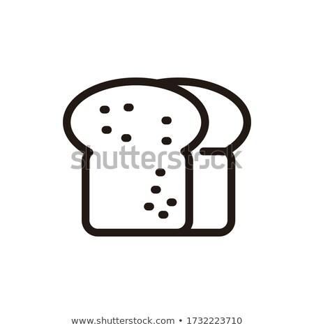 Schwarz geschnitten Brot dunkel Mehl Essen Stock foto © OleksandrO