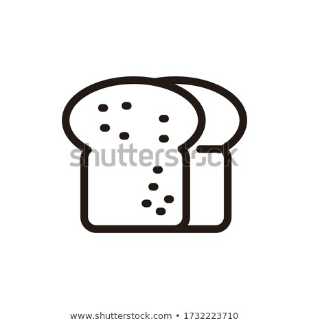 Preto pão escuro farinha comida Foto stock © OleksandrO