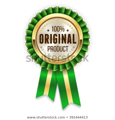 Genuine Product Green Vector Icon Button Stock photo © rizwanali3d
