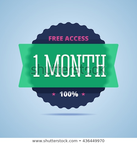 1 Month Offer Green Vector Icon Button Stock photo © rizwanali3d