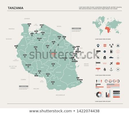 кнопки символ карта Танзания флаг белый Сток-фото © mayboro1964