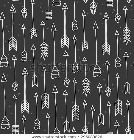 hand drawn chalkboard style arrows seamless pattern stock photo © ivaleksa
