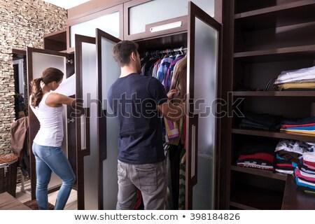 Man dressing in woman dress Stock photo © Elnur