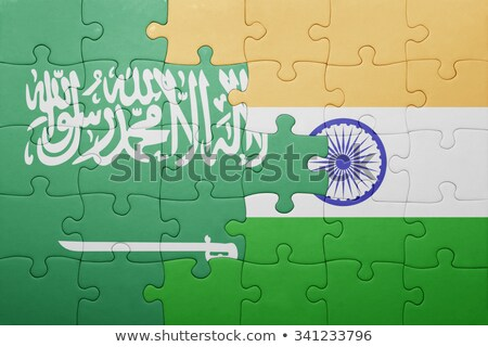 india and saudi arabia flags in puzzle stock photo © istanbul2009