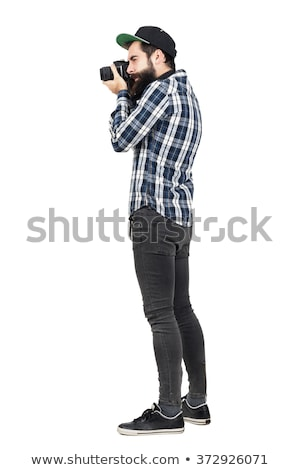 full body picture of a young hipster man stock photo © feedough