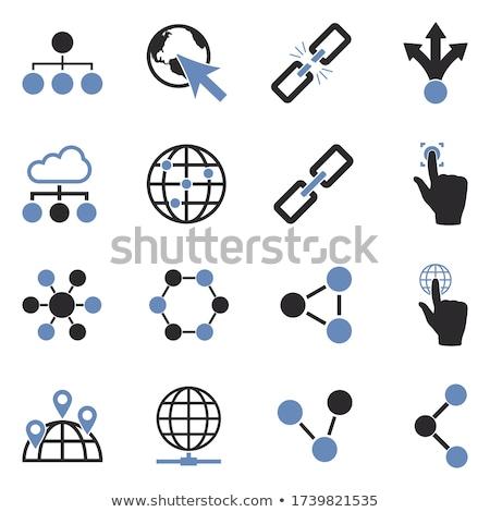 ストックフォト: Seo · インターネット · にログイン · 青 · ベクトル · ボタン