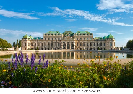 belvedere palace in vienna austria in the morning stock photo © andreykr