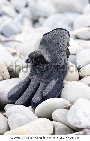 opuszczony · rękawica · plaży · tle · sam - zdjęcia stock © rekemp