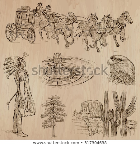 hand drawn wild west collection stock photo © netkov1