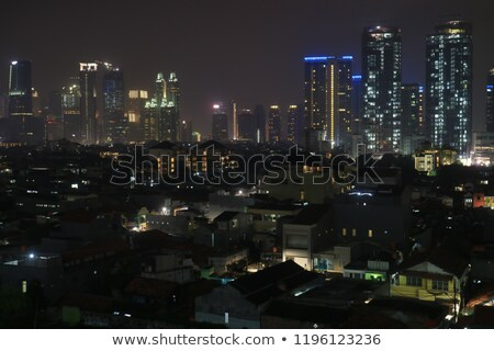 Modern buildings in Jakarta, night shoot Stock photo © artush