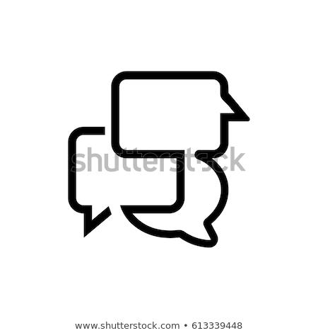 Comunicación iconos ilustración blanco teléfono periódico Foto stock © get4net