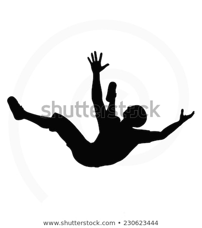 man silhouette in falling pose Stock photo © Istanbul2009