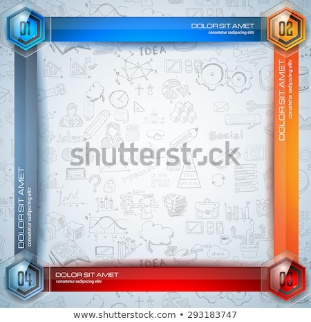 Infographic Abstract template with multiple choices glass buttons Stock photo © DavidArts