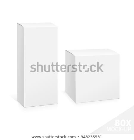 白 パッケージ ボックス 実例 孤立した 黒 ストックフォト © netkov1