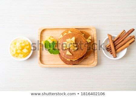 パンケーキ リンゴ スタック ストックフォト © rojoimages