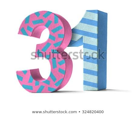 красочный бумаги числа белый 31 вечеринка Сток-фото © Zerbor