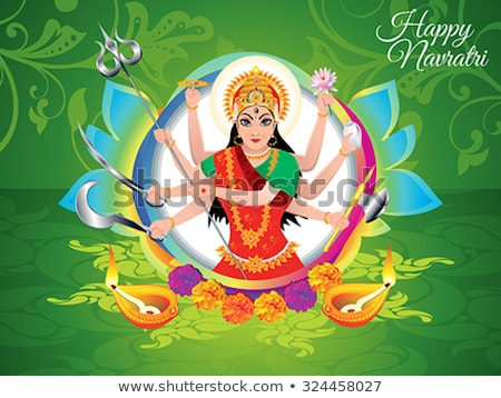 Stock photo: Abstract Artistic Green Navratra Background