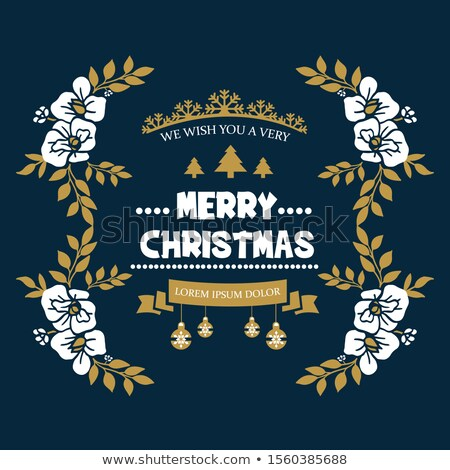 vintage christmas card with ornate elegant abstract floral desig stock photo © morphart