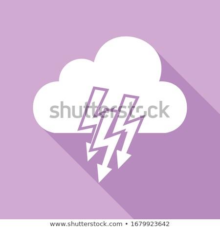 Flash Chmura fioletowy wektora ikona przycisk Zdjęcia stock © rizwanali3d