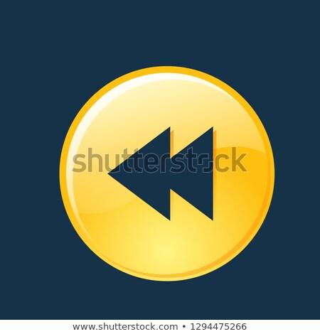 Chave vetor azul ícone web botão Foto stock © rizwanali3d