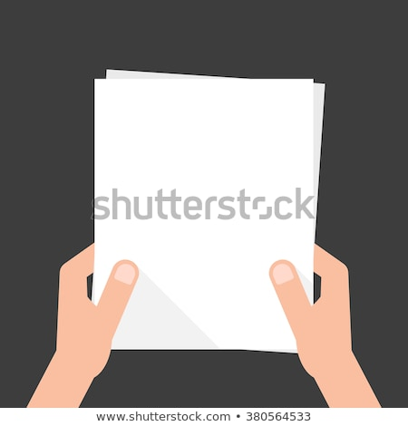 Man show blank white sheet 2 Stock photo © Paha_L