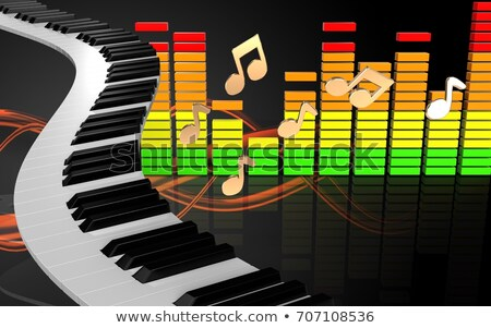 Dourado piano teclado concerto chave cor Foto stock © shutswis