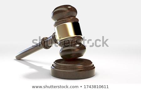 Wood hammer isolated on white Stock photo © shutswis