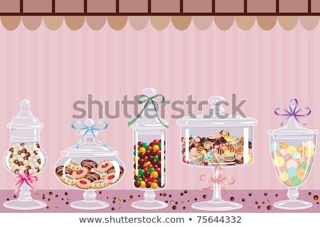 Cukorka cseppek édesség bolt étel gyümölcsök Stock fotó © tarczas