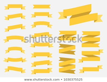 Stock photo: Vector Yellow ribbons set. Elements isolated on white background