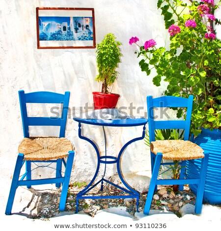 ヴィンテージ ギリシャ語 椅子 ツリー ギリシャ 市 ストックフォト © deyangeorgiev