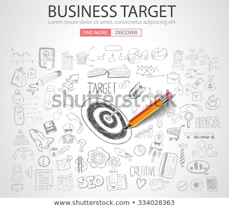 business targe concept with doodle design style stock photo © davidarts