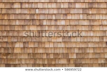 Pattern - Wooden Shingles Stock photo © Alsos
