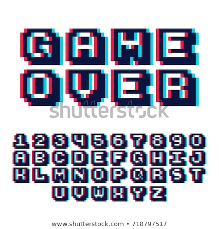 Пиксели графика графических набор изображение Сток-фото © UltraPop