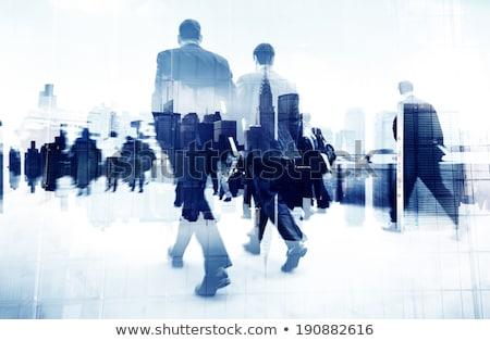 üzletemberek csúcsforgalom absztrakt homály kép felismerhetetlen Stock fotó © stevanovicigor