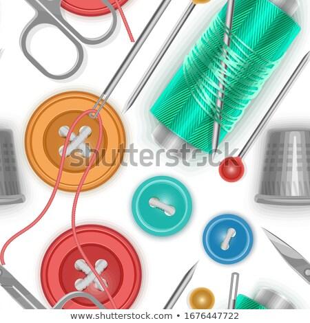 Needlework Background, Red Green Pattern. EPS 10 Stock photo © beholdereye